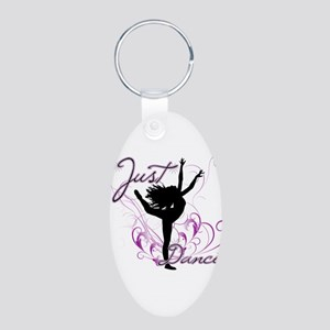 dance girl2 Aluminum Oval Keychain