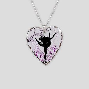 dance girl2 Necklace Heart Charm
