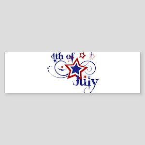 4th of July Designs Sticker (Bumper)