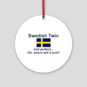 Perfect Swedish Twin Ornament (Round)
