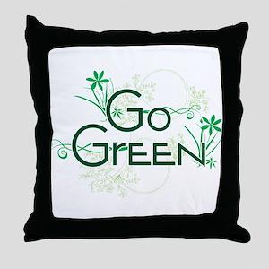 Go Green Design Throw Pillow