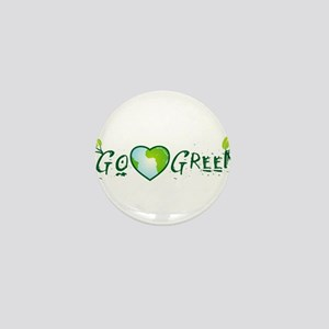 Go Green love earth Mini Button
