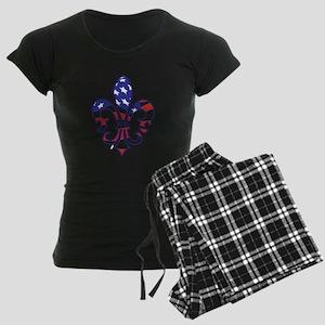 USA FLEUR DE LIS Women's Dark Pajamas