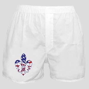 USA FLEUR DE LIS Boxer Shorts