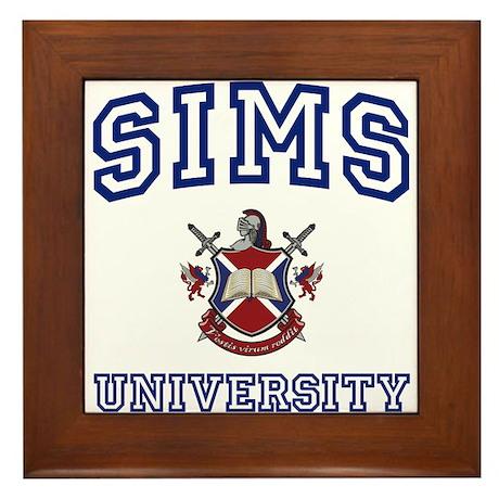 SIMS University Framed Tile