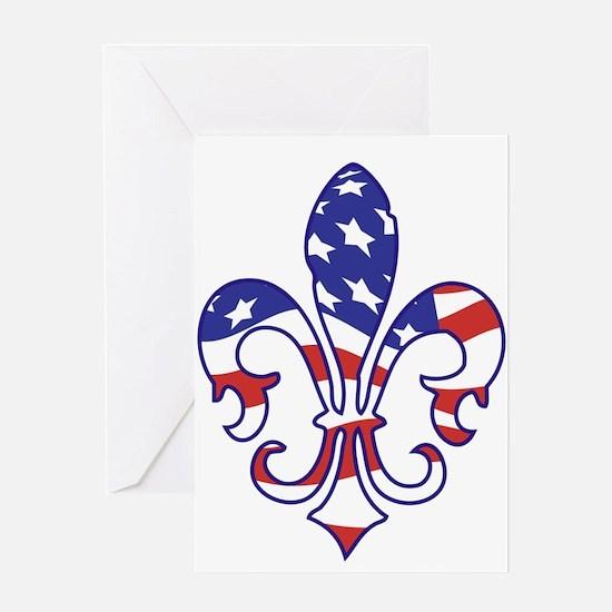 USA FLEUR DE LIS Greeting Card