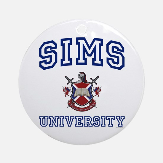 SIMS University Ornament (Round)