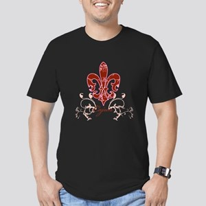 fleur_de_lis2 Men's Fitted T-Shirt (dark)