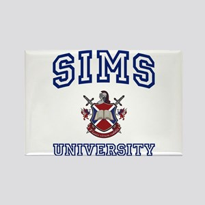 SIMS University Rectangle Magnet