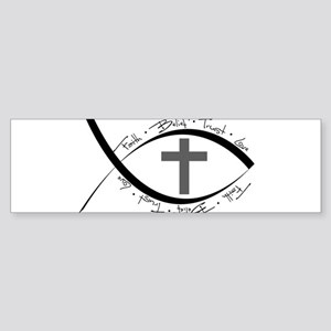 jesus fish Sticker (Bumper)
