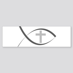 jesus fish_reverse Sticker (Bumper)