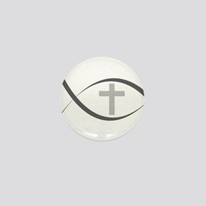 jesus fish_reverse Mini Button