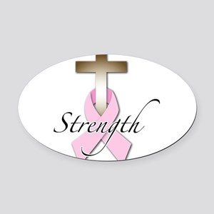 strength.png Oval Car Magnet
