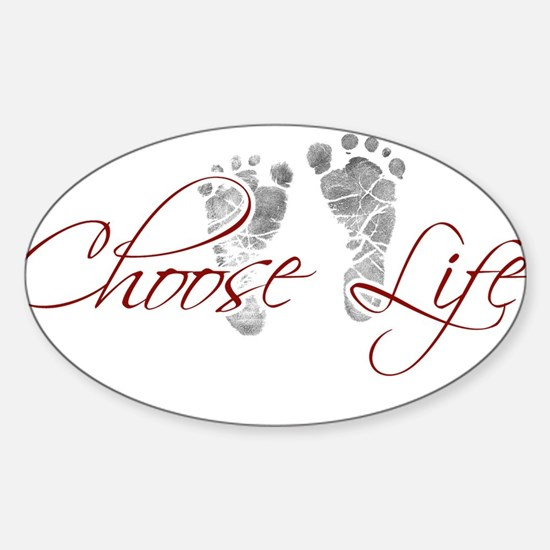 choos life.png Sticker (Oval)