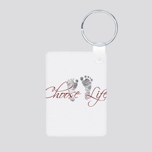 choos life Aluminum Photo Keychain