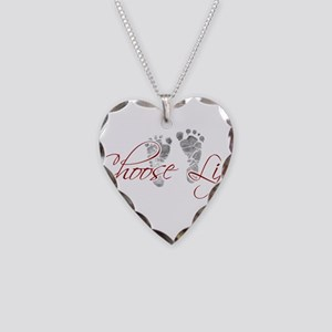 choos life Necklace Heart Charm