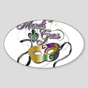 Mardi Gras Sticker (Oval)
