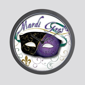 mardi Gras Wall Clock