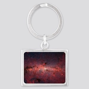 Red Space Landscape Keychain
