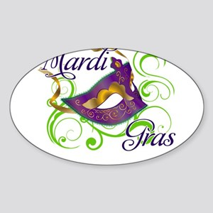 MardiGras Sticker (Oval)