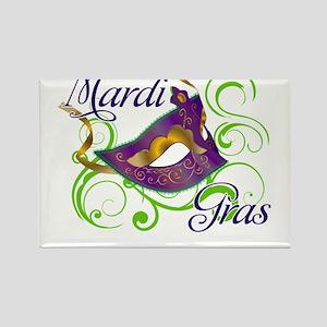 MardiGras Rectangle Magnet
