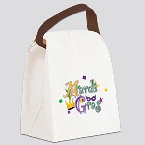 Mardi Gras Canvas Lunch Bag