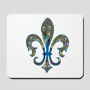 Peacock Fleur 1 Mousepad