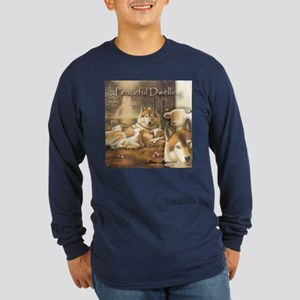 """Peaceful Dwelling"" Fine Art Long Sleeve Dark T"
