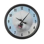 Bichon Frise Large Wall Clock