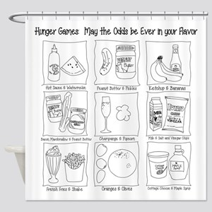 Hunger Games: Odd Flavors Shower Curtain