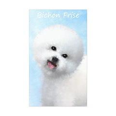 Bichon Frise Sticker (Rectangle 10 pk)
