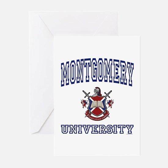 MONTGOMERY University Greeting Cards (Pk of 10