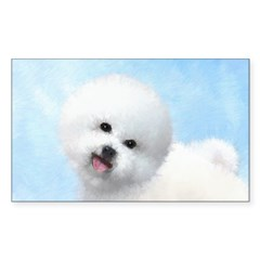 Bichon Frise Sticker (Rectangle 50 pk)