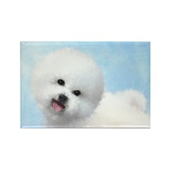 Bichon Frise Rectangle Magnet