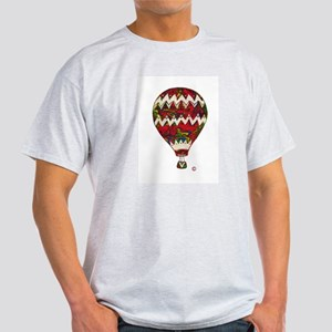 Hot Air Balloon in Silkscreen Zig Zag T-Shirt