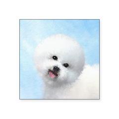 Bichon Frise Square Sticker 3