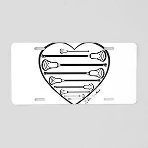 Lacrosse_HeartSticks Aluminum License Plate