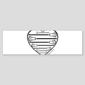 Lacrosse_HeartSticks Bumper Sticker