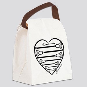 Lacrosse_HeartSticks Canvas Lunch Bag