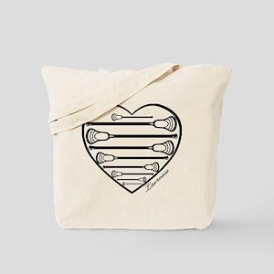 Lacrosse_HeartSticks.png Tote Bag