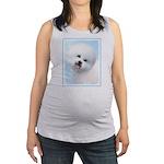 Bichon Frise Maternity Tank Top