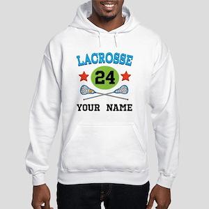 Lacrosse Player Personalized Hooded Sweatshirt