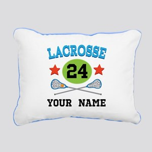 Lacrosse Player Personalized Rectangular Canvas Pi