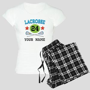 Lacrosse Player Personalized Women's Light Pajamas