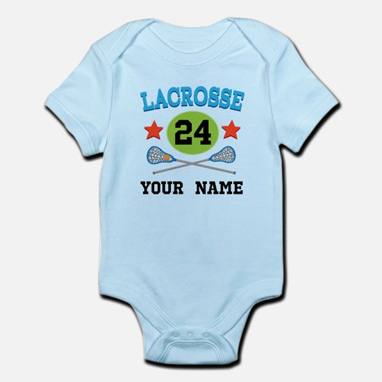 Lacrosse Player Personalized Infant Bodysuit