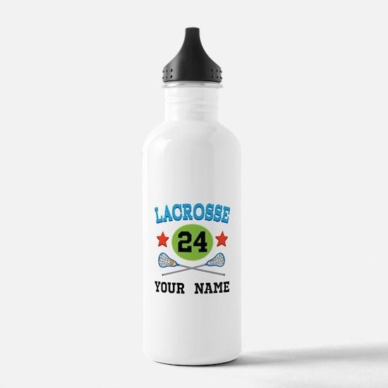 Lacrosse Player Personalized Sports Water Bottle