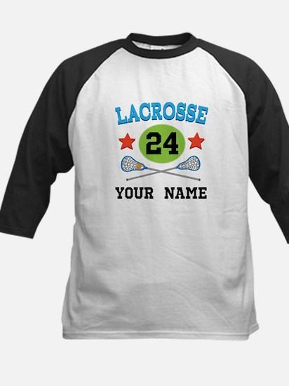 Lacrosse Player Personalized Kids Baseball Jersey