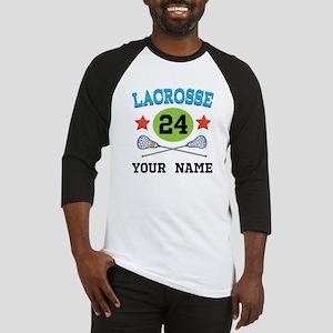 Lacrosse Player Personalized Baseball Jersey