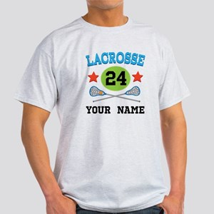 Lacrosse Player Personalized Light T-Shirt