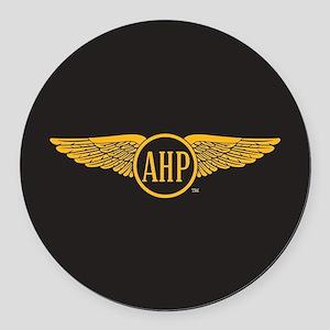 Alpha Eta Rho Wings Round Car Magnet